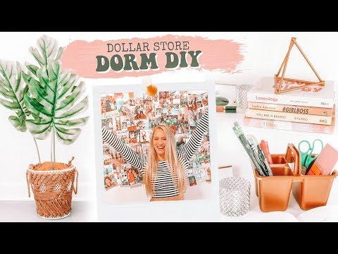 Dollar Store DIY Challenge DORM ROOM Decor Edition!