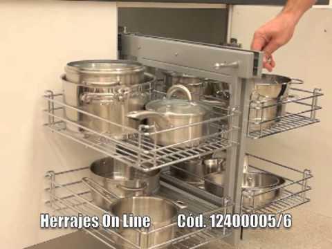 Herrajes Online  MAGIC CORNER  Herraje de Cocina  YouTube
