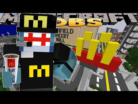 Minecraft Jobs - MY FIRST DAY IN McDONALD'S!! w/ Little Kelly & Little Carly