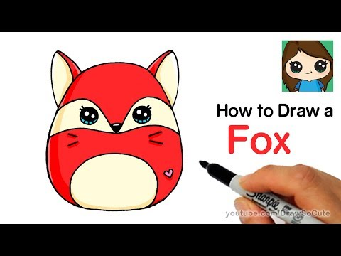 How to Draw a Cute Fox Easy   Squishy Squooshems