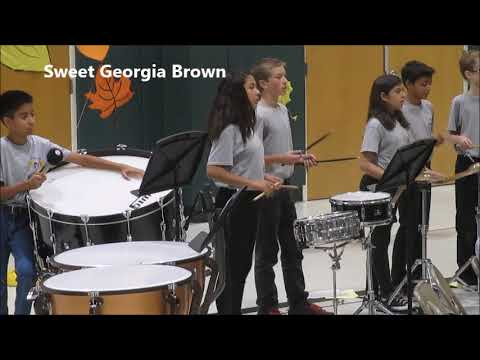 Heritage Intermediate School Symphonic Band Percussion Orchestra October 18 2017 Performance Drums