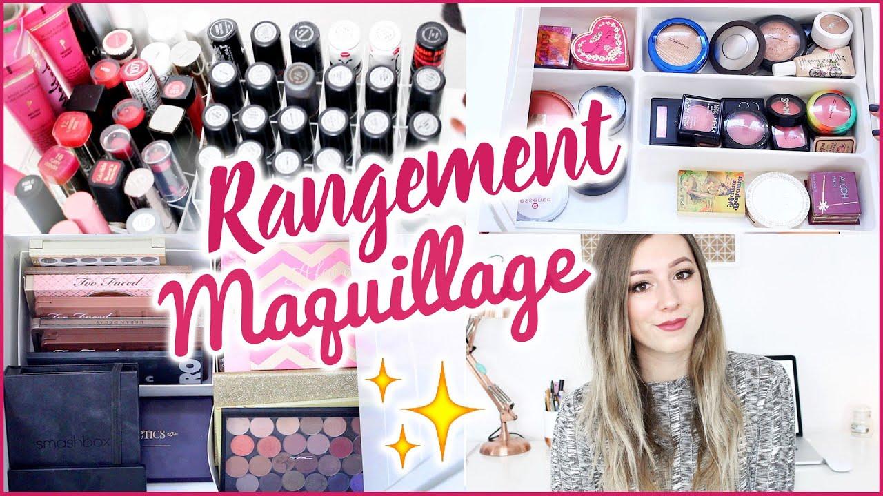 mon rangement maquillage astuces organisation youtube. Black Bedroom Furniture Sets. Home Design Ideas