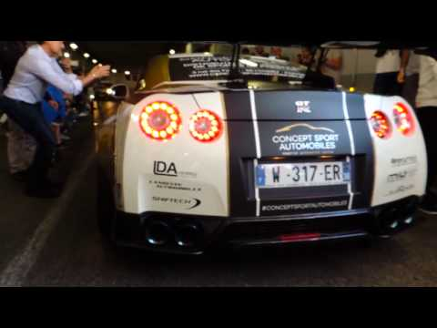 Nissan GT-R R35 Armytrix x Liberty Walk Launch Control and Acceleration in Tunnel