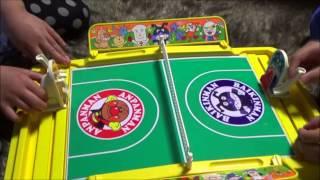 Anpanman Toys Tennis Game. アンパンマンのおもちゃ。テニスゲーム ポンポンラケット