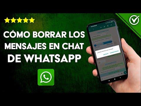 Cómo Borrar las Conversaciones o Mensajes de un Chat de WhatsApp en Android o iPhone