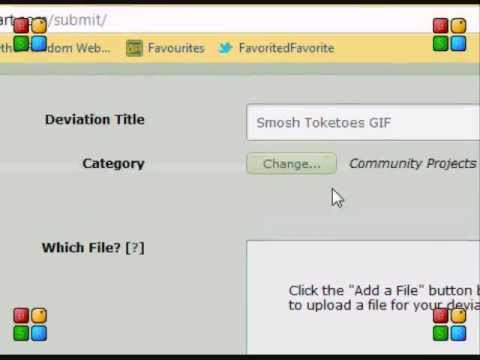 How to add GIF's to DeviantART