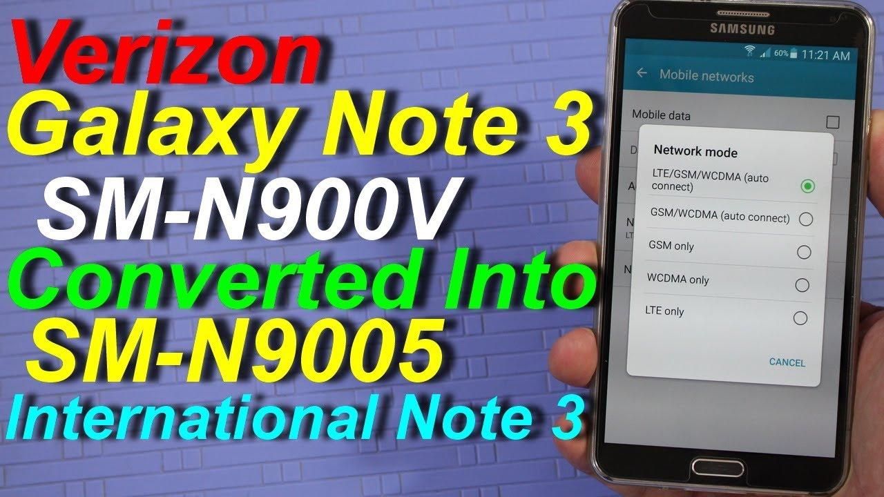 Convert Verizon Note 3 N900V into N9005