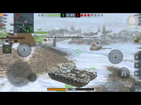World of Tanks Blitz American Heavy T30 Radley Walters Medal Game Replay