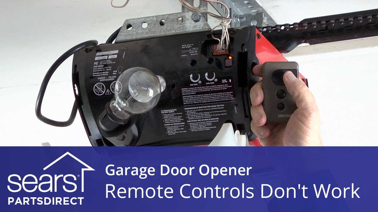 How To Program Craftsman Garage Door Opener >> Garage Door Opener Won't Open: Opener Remotes Don't Work - YouTube