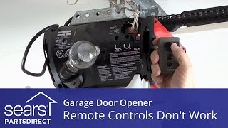 garage door opener won t open opener remotes don t work