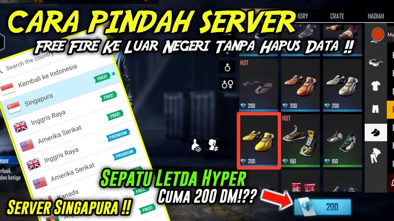 MANTAP!! Cara Pindah Server Free Fire Ke Server Luar Negeri Tanpa Hapus Data | Banyak Skin OLD!!