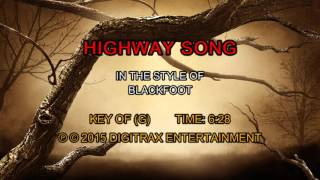 Blackfoot - Highway Song (Backing Track)