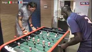 Italie-France : Sirigu vs Sakho au baby-foot