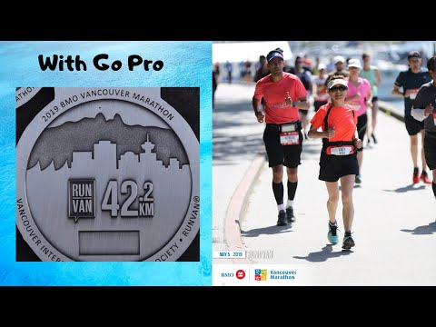 I Finished My First Full Marathon  | BMO Vancouver Marathon 2019  | Course Recorded With GoPro