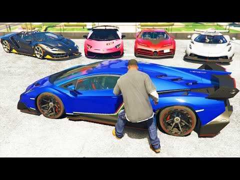 GTA 5 Stealing Super Cars with Franklin #21 (GTA V Real Life Expensive Cars) thumbnail