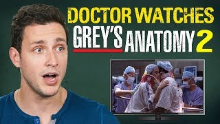 Real Doctor Reacts to GREY'S ANATOMY #2 |