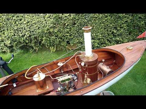 STEAM LAUNCH  Lady Beatrice  no 1  !!! refurbished  Marcher Engine Steam launch