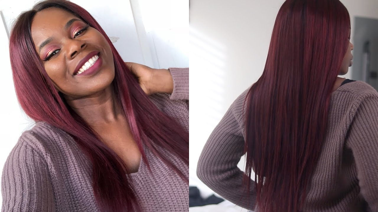How To Dye Hair From Black To Burgundy In One Step No Bleach