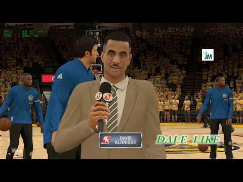 JUEGO 2 GOLDEN STATE WARRIORS  VS SAN ANTONIO SPURS NBA 2K17 PLAYOFFS GAMEPLAY