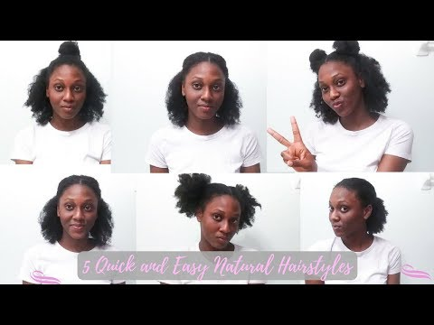 5 Quick and Easy Natural Hairstyles for Short/Medium Type 4 Natural Hair