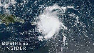Hurricane Dorian Satellite Footage As It Approaches Puerto Rico