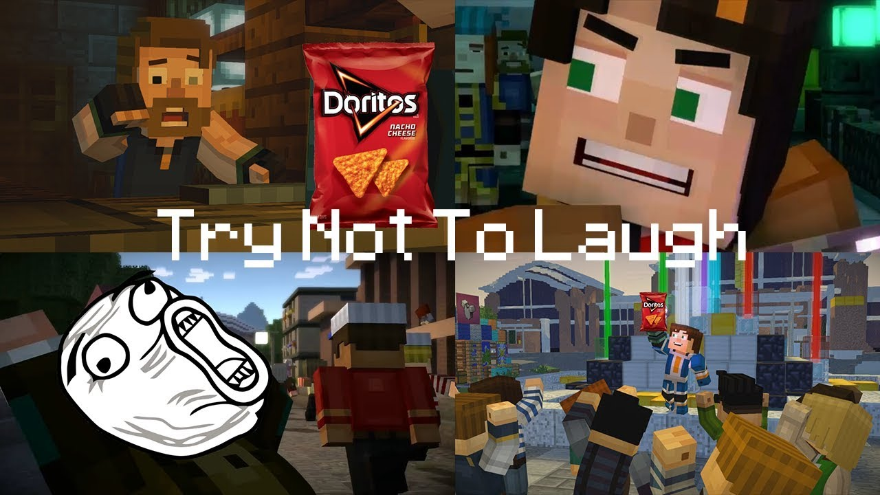 Minecraft Story Mode Ytp Compilation Try Not To Laugh Challenge