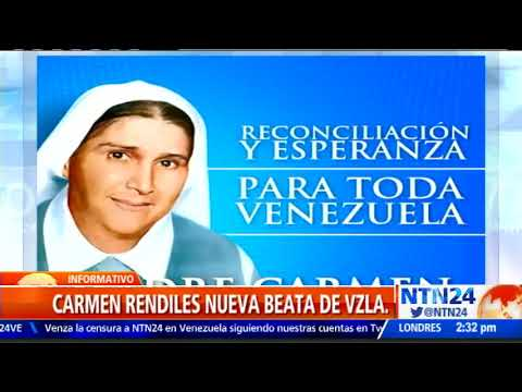 La Madre Carmen Rendiles sube a los altares de la Iglesia Católica este sábado