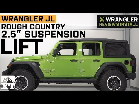 """jeep-wrangler-jl-rough-country-2.5""""-suspension-lift-kit-(2018)-review-&-install"""