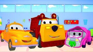 Baby Amber-Masha and Ethan the Bear - Lakiernia Toma Holownika w Miasto Samochodów