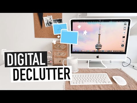 DIGITAL DECLUTTER | organizing my files, email & hard drives