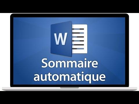 Word 2016 - Créer un sommaire automatique ou table des matières
