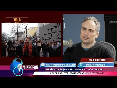 Foto muhabiri Serkan Gürbüz'le Trump karşıtı protestolar