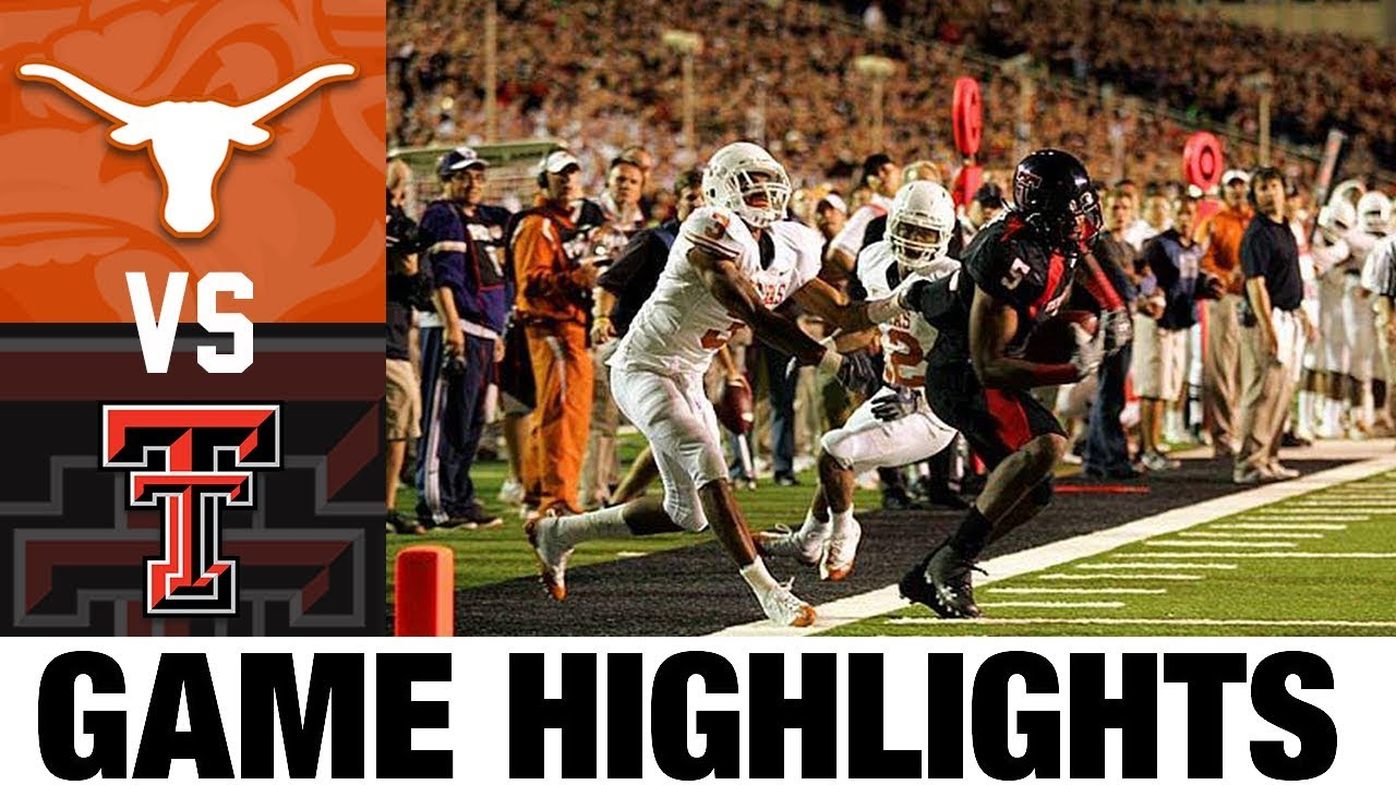 #1 Texas vs #7 Texas Tech | 2008 Game Highlights | 2000's Games of the Decade