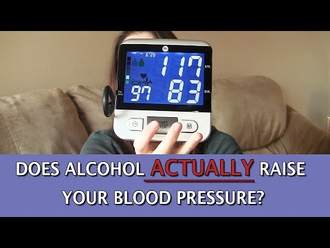 Does alcohol ACTUALLY raise your blood pressure?