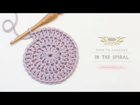 How To: Crochet In The Spiral | Easy Tutorial by Hopeful Honey