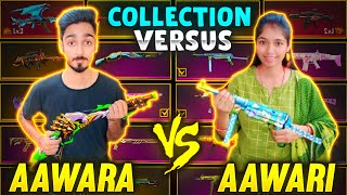 Best Legendary Gun Collection Versus 🤣 AAWARA Vs AAWARI Richest Collection || Free Fire