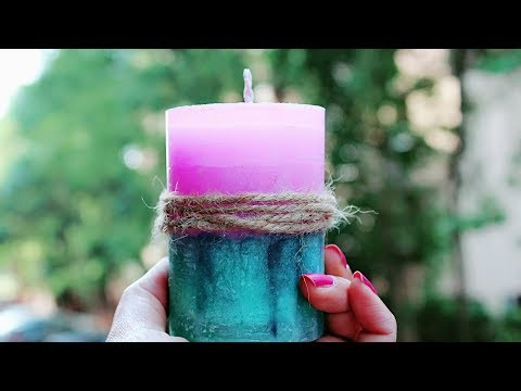 BASIC MARBLE LAYER CANDLE   DIY CANDLE MAKING TECHNIQUE