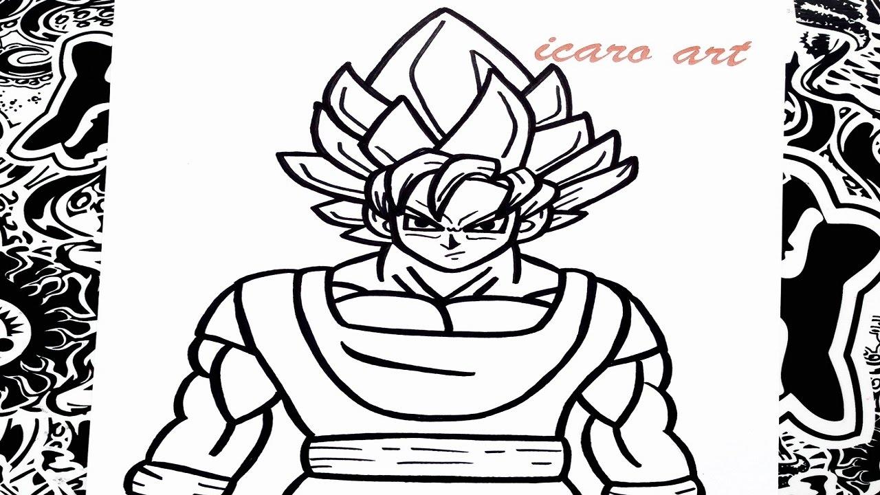 Goku Super Sayayin Dios Azul Para Colorear: Como Dibujar A Goku Ssj Dios Azul