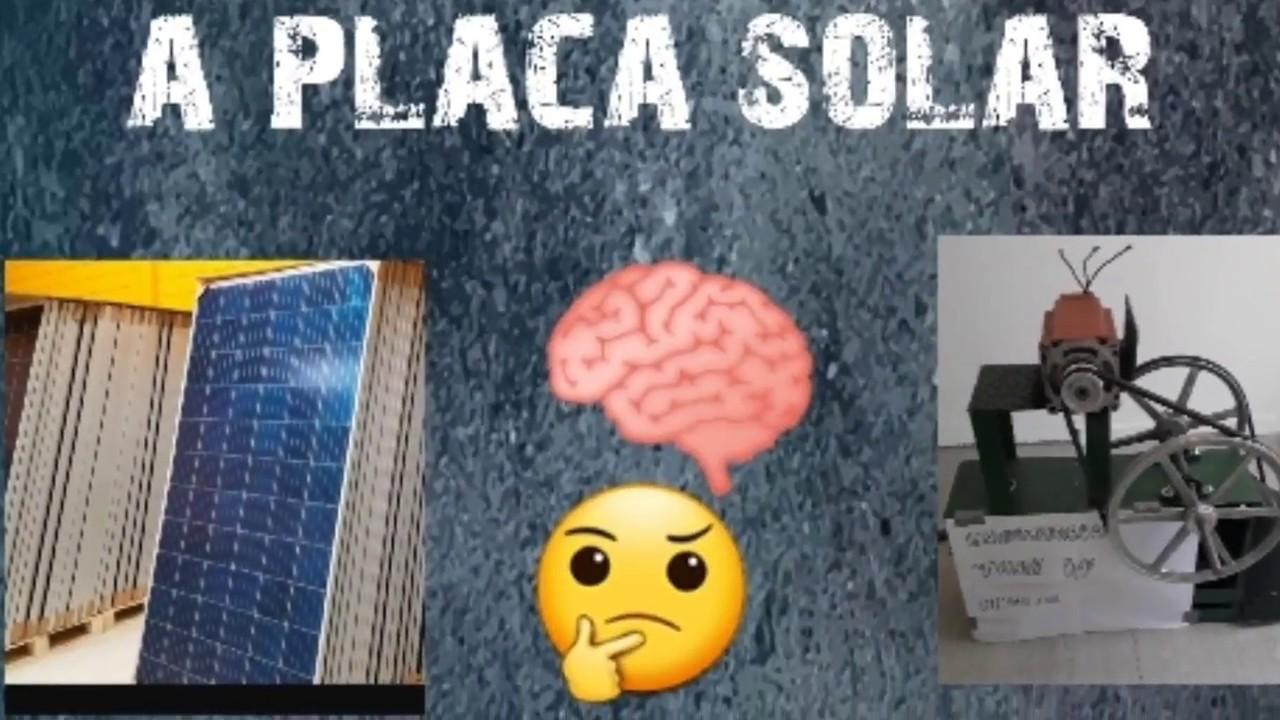 MÁQUINA GERANDO ENERGIA COM PLACA SOLAR