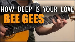 Como tocar How deep is your love - Bee Gees - Guitarra Tutorial