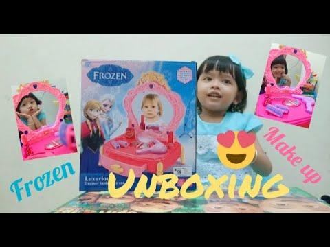 Mainan Make Up Anak Frozen Unboxing Putri Cantika Youtube
