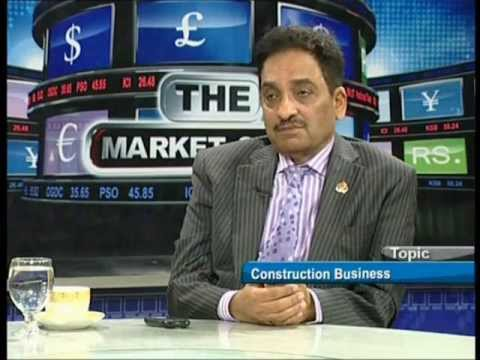 THE MARKET SHOW WITH TARIQUE KHAN JAVED 30 JAN 2012 ON CONSTRUCTION BUSINESS