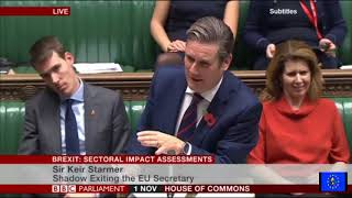 Brexit fallout: Brexit Sectoral Impact Statements Debate (full)