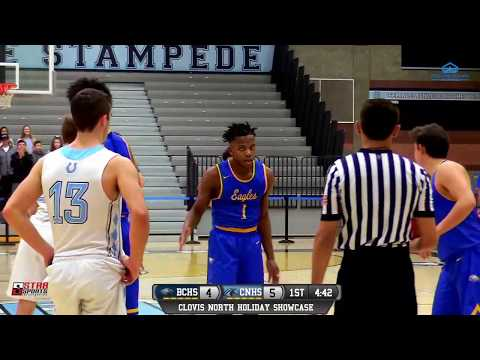 Clovis North vs Bakersfield Christian High School Boys Basketball LIVE 12/22/18