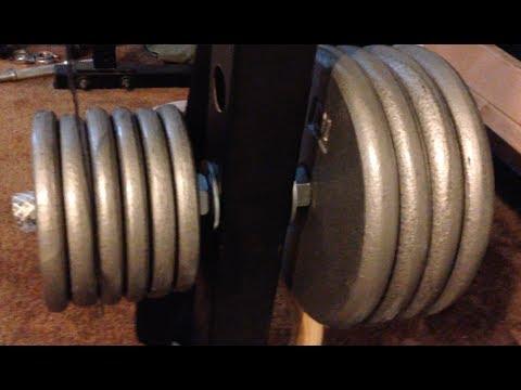 Diy Weight Plate Holders For Power Racks Youtube