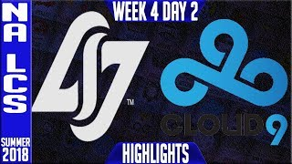 Video CLG vs C9 HIGHLIGHTS | NA LCS Summer 2018 Week 4 Day 5 | Counter Logic Gaming vs Cloud9 download MP3, 3GP, MP4, WEBM, AVI, FLV Agustus 2018