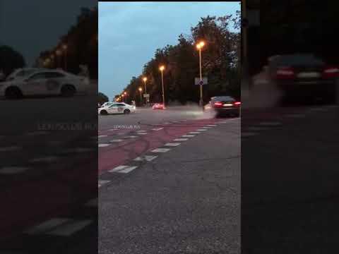 Lexus IS F drifting