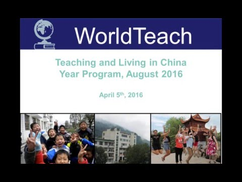 Living and Teaching in WorldTeach Hunan China