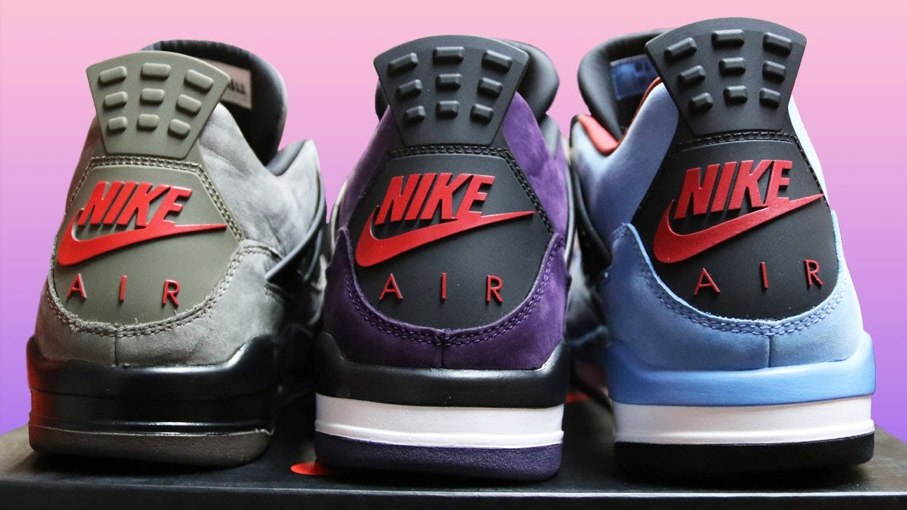 new styles 28e0f 0045d AIR JORDAN 4 TRAVIS SCOTT SAMPLE F&F COLLECTION (NIKE AIR, PURPLE & OLIVE)