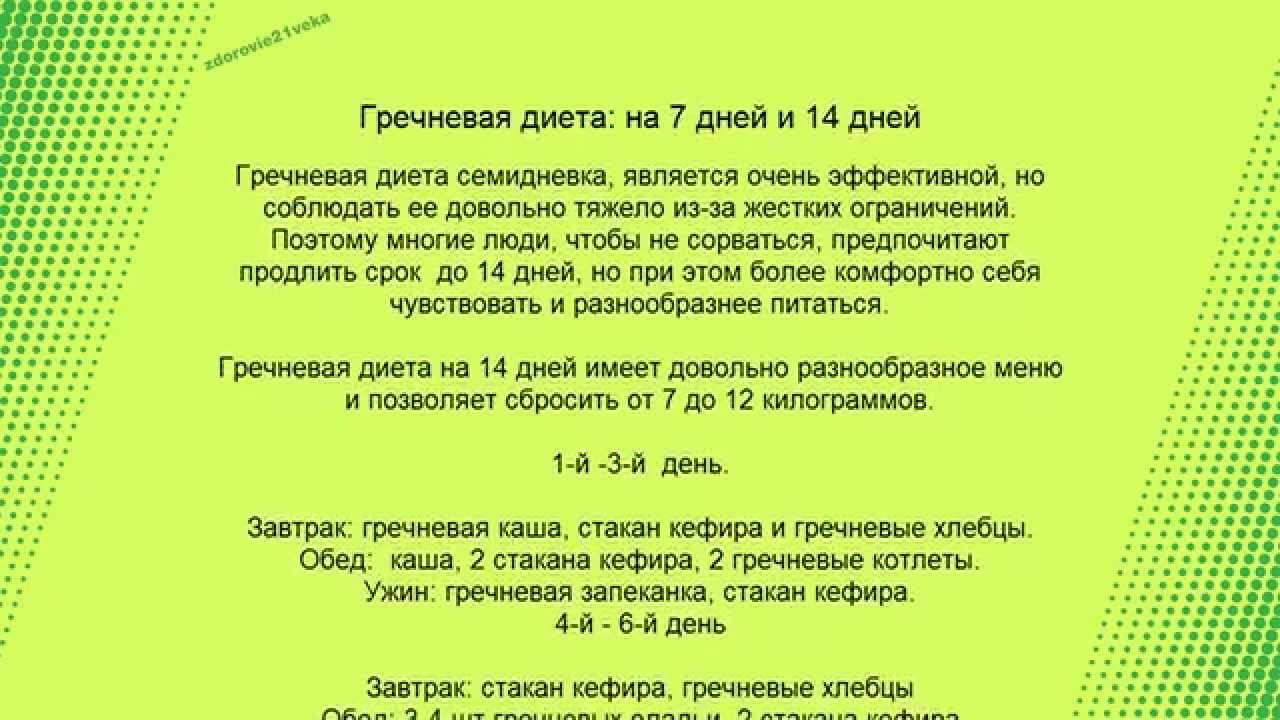 диета кефир и гречка отзывы